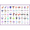 BOOK 17 TATTOO STENCILS 50 mide-size designs