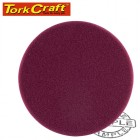 "FOAM PAD HOOK AND LOOP MAROON SPONGE 150MM 6"" HEAVY COMPOUNDING"