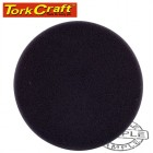 "FOAM PAD HOOK AND LOOP BLACK SPONGE 150MM 6"" FINISHING"
