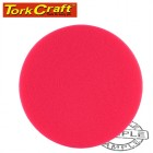 "FOAM PAD HOOK AND LOOP RED SPONGE 150MM 6"" ULTRA FINISHING"