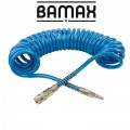 SPIRAL POLYP HOSE 12M X 12MM WITH QUICK COUPLERS