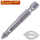 STAINLESS  SCREWDRIVER BIT PH2 X 50MM RED SHANK