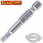 STAINLESS  SCREWDRIVER BIT SQ2 X 50MM RED SHANK