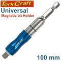 UNIVERSAL MAGNETIC BIT HOLDER 100MM CARDED