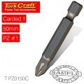 POZI.1 X 50MM POWER BIT 1/CARD