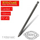 POZI NO.2 POWER BIT X 150MM CARDED