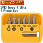 S/D INSERT BIT SET 25MM 7PCE