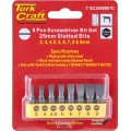 S/DRIVER BIT SET 8PCE SLOTTED 3MM-9MM