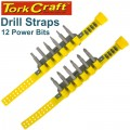 DRILL STRAP AND 50MM POWER BIT 12PC SET