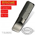 S/D INSERT BIT 6MMx25MM 2/CARD