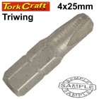 TRIWING NO.4X25MM INSERT BIT CARDED