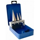 STEP DRILL SET 3 PCE HSS IN PLASTIC CASE