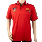 VERMONT MENS GOLF SHIRT RED LARGE