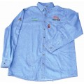 VERMONT MENS LONG SLEEVED DENIM SHIRT STONE WASHED LARGE