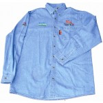 VERMONT MENS LONG SLEEVED DENIM SHIRT STONE WASHED 2XL