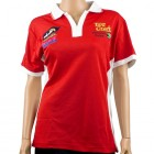 VERMONT LADIES GOLF SHIRT RED MEDIUM
