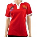 VERMONT LADIES GOLF SHIRT RED LARGE