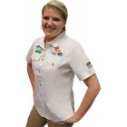 VERMONT LADIES COTTON SHIRT WHITE LARGE