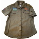 VERMONT LADIES COTTON SHIRT OLIVE MEDIUM