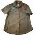 VERMONT LADIES COTTON SHIRT OLIVE LARGE