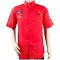 VERMONT MENS RED COTTON SHIRT - SMALL