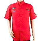 VERMONT MENS COTTON SHIRT RED SMALL