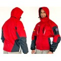 RED UNISEX JACKET REMOVABLE POLAR FLEECE GREY - LARGE 3 IN 1