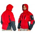 RED UNISEX JACKET REMOVABLE POLAR FLEECE GREY - 2XL 3 IN 1