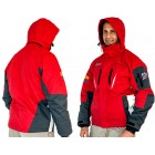 RED UNISEX JACKET WITH REMOVABLE POLO FLEECE GREY - 2XL 3 IN 1