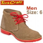 TORK CRAFT MENS VELLIE SHOES BROWN SIZE 6