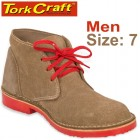 TORK CRAFT MENS VELLIE SHOES BROWN SIZE 7
