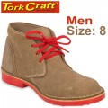 TORK CRAFT MENS VELLIE SHOES BROWN SIZE 8
