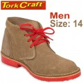TORK CRAFT MENS VELLIE SHOES BROWN SIZE 14