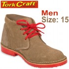 TORK CRAFT MENS VELLIE SHOES BROWN SIZE 15