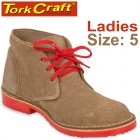 TORK CRAFT LADIES VELLIE SHOES BROWN SIZE 5