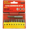 SCREWDRIVER BIT SET 10PCS(PH2X2.PZ2X3SLOTTED6MMX2.8MMX2)