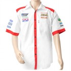 VERMONT MENS - WHITE/RED COTTON SHIRT - LARGE