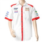 VERMONT MENS - WHITE/RED COTTON SHIRT - 2X-LARGE