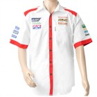 VERMONT MENS - WHITE/RED COTTON SHIRT - 3X-LARGE