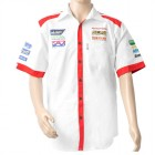 VERMONT MENS - WHITE/RED COTTON SHIRT - 4X-LARGE