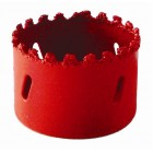 HOLE SAW CARBIDE GRIT 83MM - RED