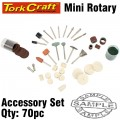 MINI ROTARY ACCESSORY SET 70PC