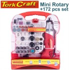 MINI ROTARY TOOL 170W AND ACCESSORY KIT 172 PC IN PLASTIC CASE