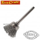 MINI CARBON STEEL BRUSH 12.7MM CUP 3.2MM SHANK