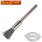 MINI CARBON STEEL BRUSH 3.2MM END 3.2MM SHANK