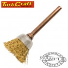 MINI BRASS BRUSH 12.7MM CUP 3.2MM SHANK