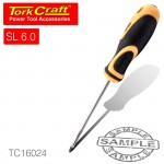 SCREWDRIVER SLOTTED 6 X 100MM