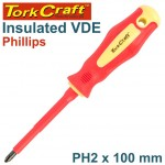 SCREWDRIVER INSULATED PHIL.NO.2 X 100MM VDE