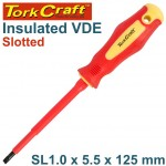 SCREWDRIVER INSULATED SLOT 1.0X5.5X125MM VDE