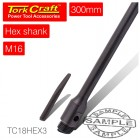 HEX SHANK ADAPTOR  M16X13MM FOR DIAM CORE 300MM